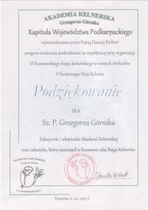 Rzeszowski Bieg Kelnera Grzegorz Górnik Akademia Kelnerska