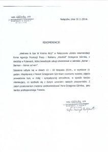 Karczma Parchatka referencje dla Grzegorza Gornika