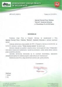 Urząd Pracy Puławy szkolenie