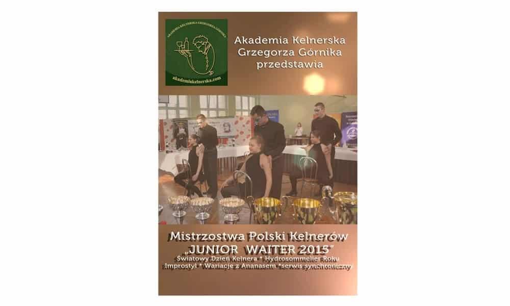 Plyta DVD Mistrzostwa Polski Kelnerow 2015 Grzegorz Gornik