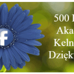 500 Fanów na Facebooku